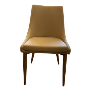 Trello Beige Leatherette Dining Chair For Sale