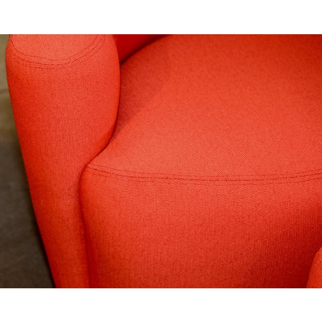Vladimir Kagan for Weiman Chairs With Large Ottomans With Labels- A Pair For Sale - Image 9 of 12