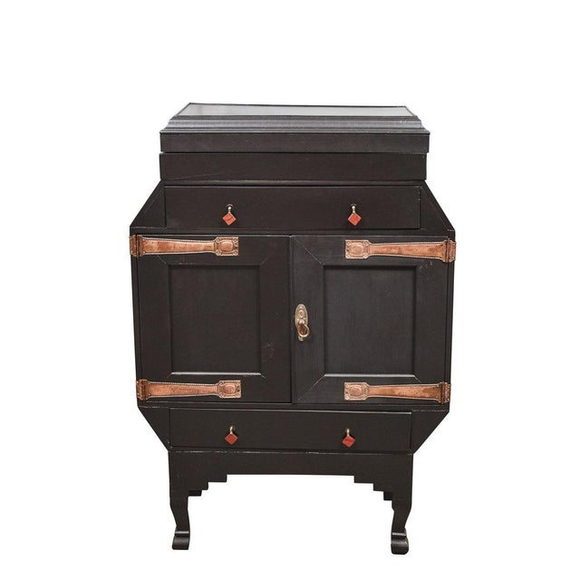 This 1920's Art Deco cabinet seems to be a one of a kind design with very interesting design and details. The cabinet has...