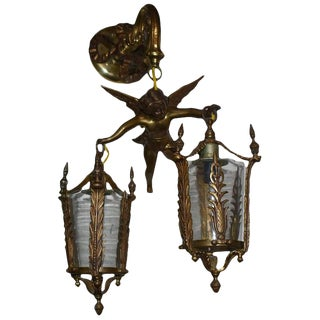 Italian Angel Sconce For Sale