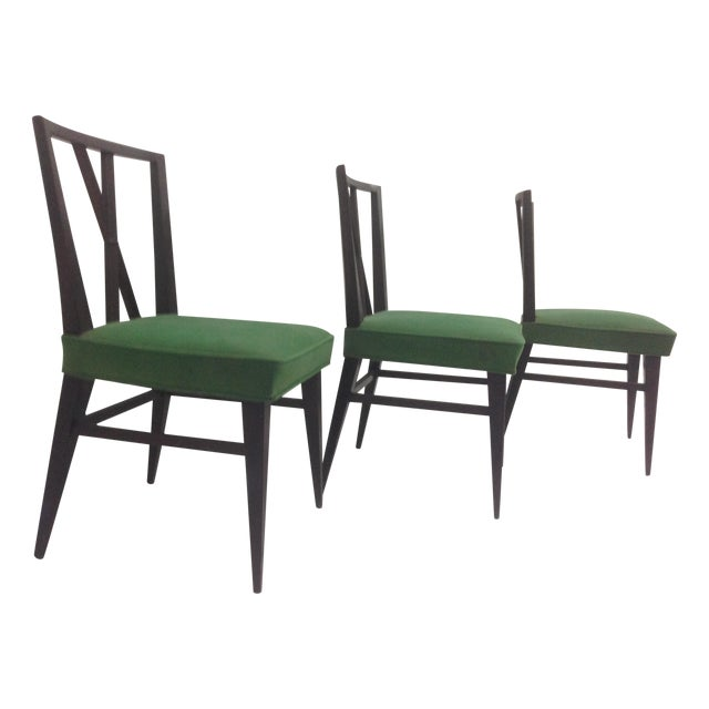 Tommi Parzinger Cross Back Dining Chairs - Set of 3 - Image 1 of 5