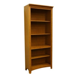 20th Century Traditional Stanley Furniture Golden Oak Bookcase/Wall Unit For Sale