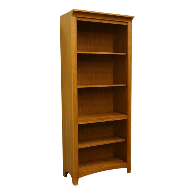 20th Century Traditional Stanley Furniture Golden Oak Bookcase Wall Unit