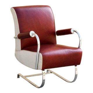 Rare Kem Webber Art Deco Armchair, Refinished For Sale