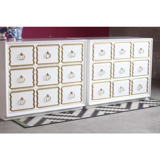 Heritage-Henredon Dorothy Draper Espana Chests Lacquered in Creamy White - a Pair For Sale - Image 4 of 11
