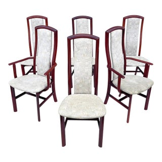 Scandinavian Modern Rosewood Dining Chairs- Set of Six For Sale