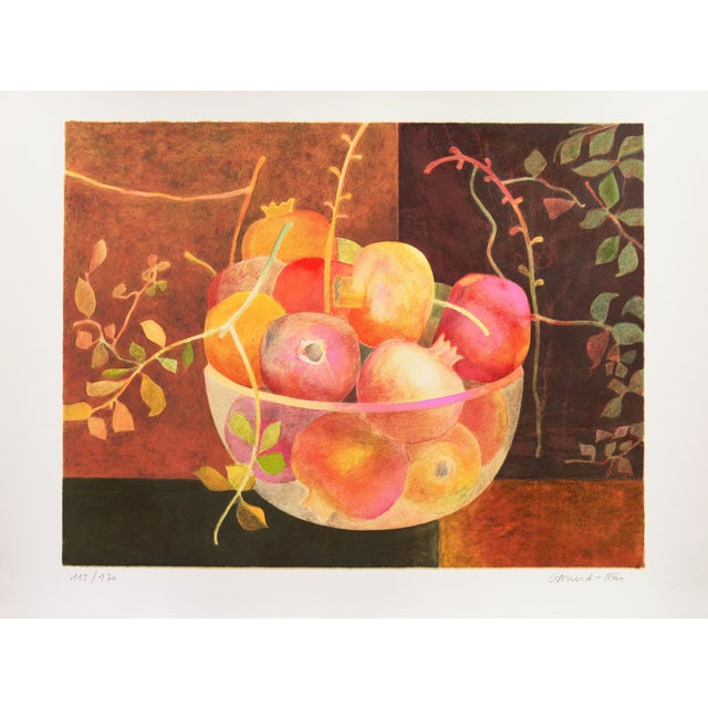 An original, limited edition, stone lithograph still life, signed lower right, 'Garcia Fons' for Pierre Garcia-Fons...