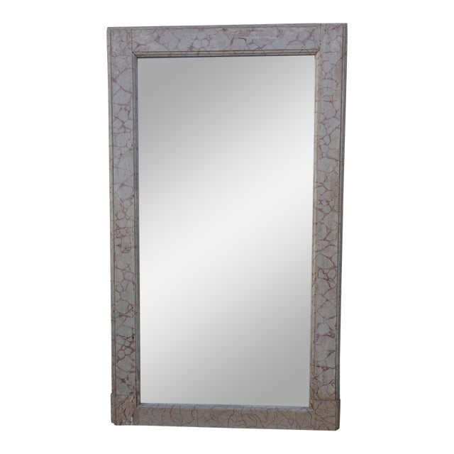 Faux Marble Painted Mirror For Sale