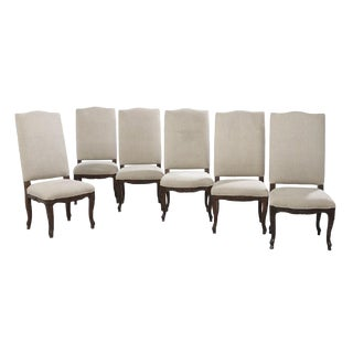 Set of 6 Provincial Louis XV Oak Chairs For Sale