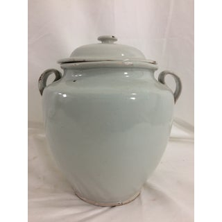 French White Glazed Conserve Pot Preview