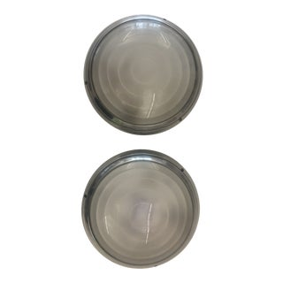 Gray and Silver Sergio Mazza for Artemide Wall Lights - a Pair For Sale