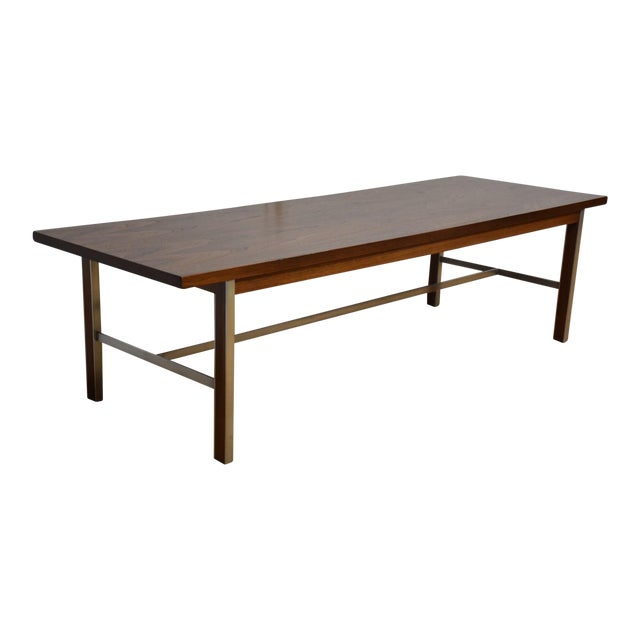 Paul McCobb for Calvin Walnut Coffee Table For Sale