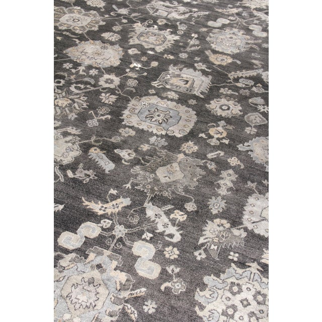 Not Yet Made - Made To Order Chester Hand knotted Bamboo/Silk Midnight Rug-8'x10' For Sale - Image 5 of 8
