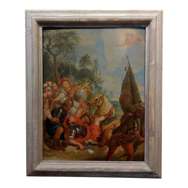 """16th/17th Century Old Master """"Wounded Warrior"""" Oil Painting For Sale"""