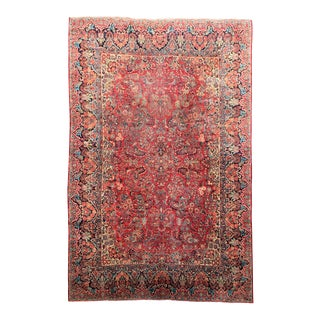 "Large Art Deco Persian Sarouk Rug - 10'1"" X 15'2"" For Sale"