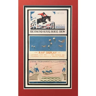 1920s Vintage British Art Deco - Richmond Royal Horse Show, Raf Display, Royal Tournament Olympia For Sale