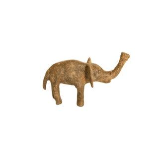 Vintage African Bronze Textured Elephant For Sale