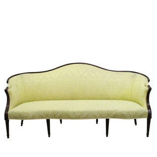 Wood Wrapped French Sofa For Sale