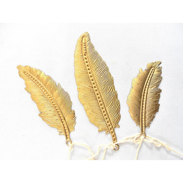 Decorative Gold Feather Garlands - Set of 6 - Image 3 of 8