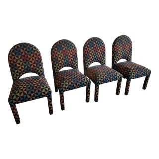 1980's Montage Gallery Parsons Chairs