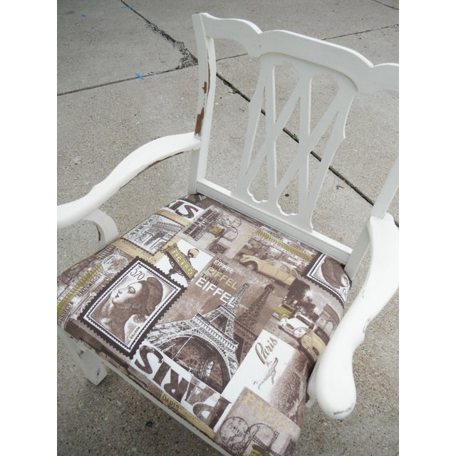 Shabby Chic Chippendale Style Captains Chair - Image 3 of 8