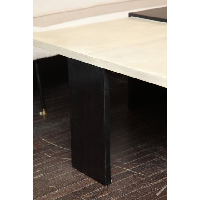 Custom Goatskin Two-Tone Cocktail Table For Sale In New York - Image 6 of 10