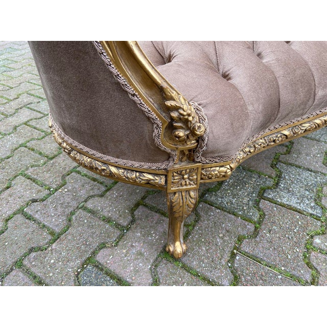 2020s French Louis XVI Style Corbeille Loveseat/Sofa/Marquise For Sale - Image 5 of 8