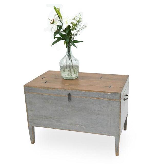 2010s Sarreid Ltd. Trunk Storage Side Table For Sale - Image 5 of 6
