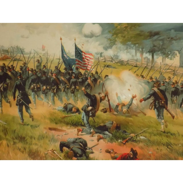 Lithograph 1887 Antietam Chromolithograph For Sale - Image 7 of 7