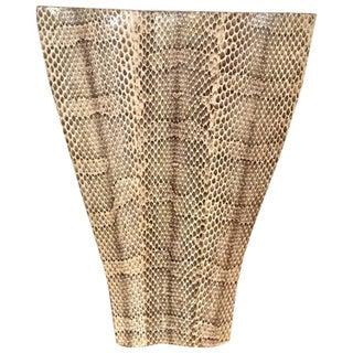 R & Y Augousti Sculptural Snakeskin Vase