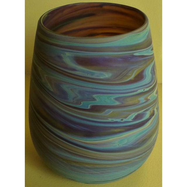Art Glass Mid Century Studio Art Glass Vase For Sale - Image 7 of 13