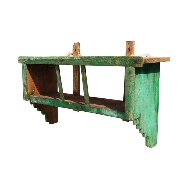 Green 1950s Moroccan Spice Shelf For Sale - Image 8 of 8