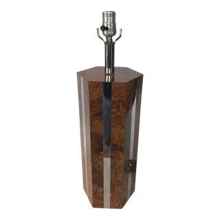 1970s Hexagonal Laminate Table Lamp For Sale