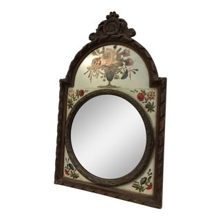 Floral Painted Bull's Eye Mirror