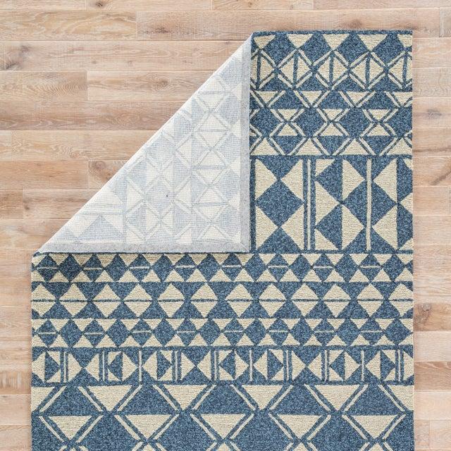 Jaipur Living Botella Indoor/ Outdoor Geometric Blue/ Cream Area Rug - 7′6″ × 9′6″ For Sale - Image 4 of 6