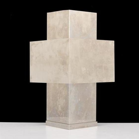 Mid 20th Century Cross Lamp in the Manner of Lella & Massimo Vignelli For Sale - Image 5 of 5