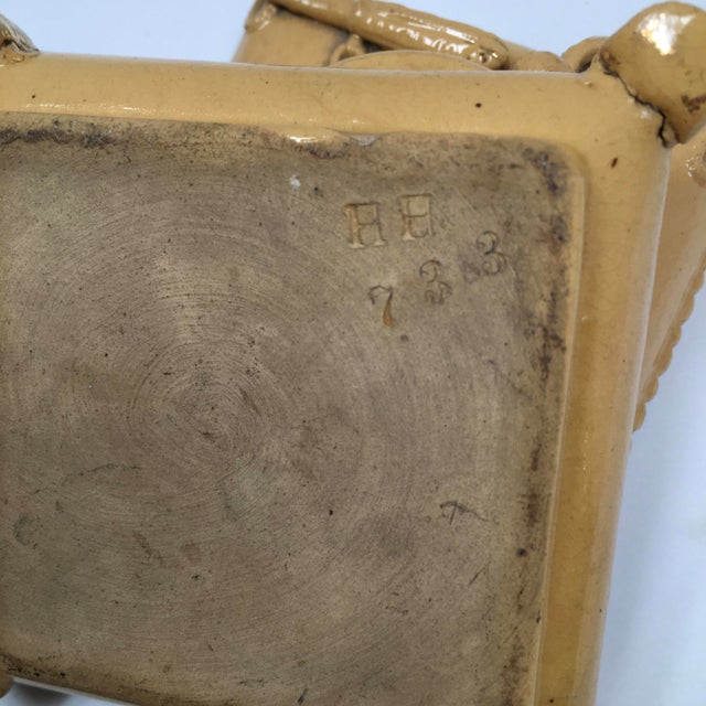 Ceramic Antique Yellow Ware Match Striker For Sale - Image 7 of 10