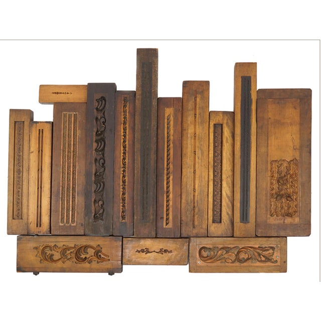 Collection of 50 19th Century Carved Wood Molds for Castings For Sale - Image 4 of 5