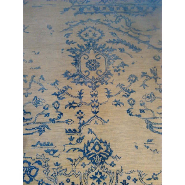 """Erased Hand-Knotted Luxury Rug - 7'11"""" X 9'10"""" - Image 9 of 9"""