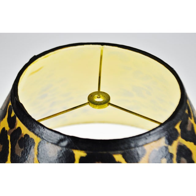 Paint Vintage Hand Painted Animal Print Lamp Shade For Sale - Image 7 of 13