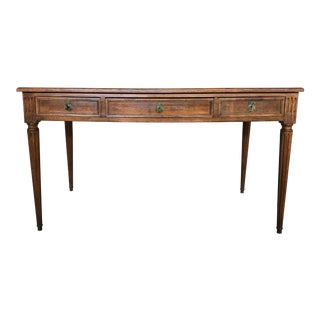 20th Century Don Ruseau Inc Louis XV Style Walnut Writing Desk For Sale