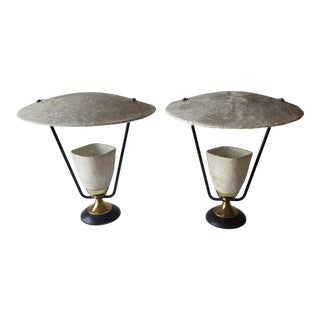 1950s Mitchell Broderick Raw Fiberglass Tamp Lamps - a Pair For Sale