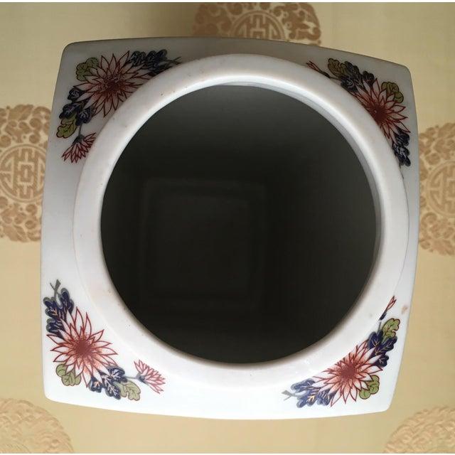 Vintage Flower Plaid Art Design Vase For Sale In Washington DC - Image 6 of 10