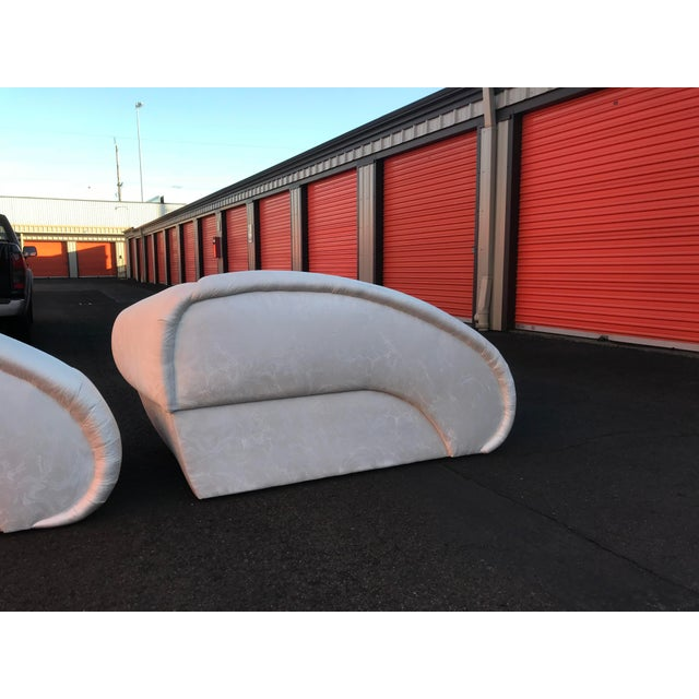 Sculptural Cloud Chaise Lounge Sofas by Marge Carson -A Pair For Sale In Portland, OR - Image 6 of 12