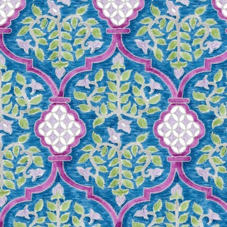 Ferran Sevilla Fabric, 2 Yards, Sapphire in Belgian Linen For Sale