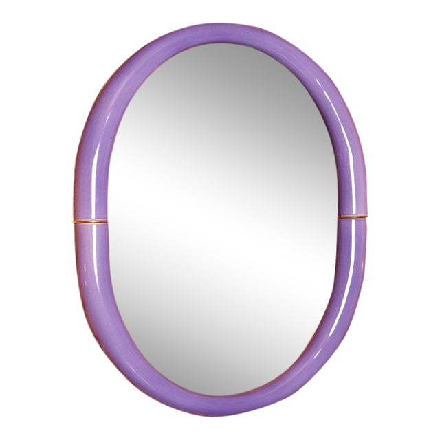 Entler Studio Purple Ceramic Mirror For Sale