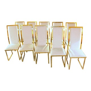 Hollywood Regency Dining Chairs - Set of 10 For Sale