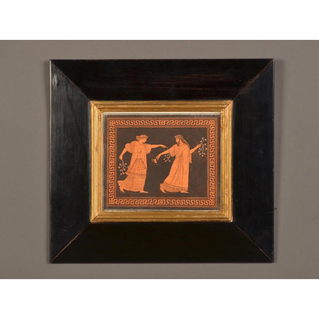 High End A Beautifully Framed Engraving Of Greek Vase Painting By