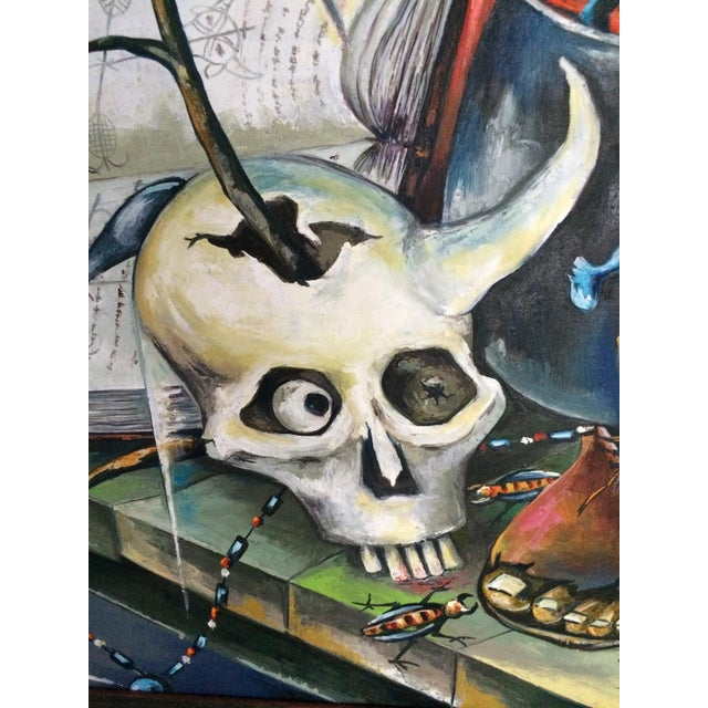 Haitian Voodoo Oil Painting, 1972 - Image 5 of 8