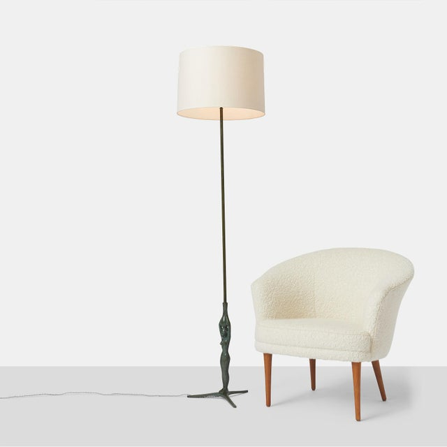 1950s Gino Scarpa Floor Lamp in Bronze For Sale - Image 5 of 6